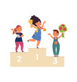kids winners child win competition winner vector image vector image