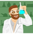 lab assistant holding bunsen flask vector image