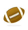 leather american football ball vector image