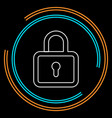 lock icon - padlock - security sign vector image