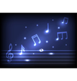 magic music notes vector image