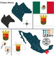 Map of Chiapas vector image vector image
