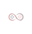 Medical health insurance icon and logo concept vector image vector image