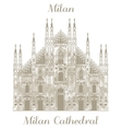 Milan Cathedral vector image vector image