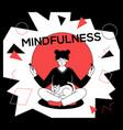 mindfulness concept - modern flat design style vector image