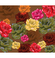 Multicolored Bright Roses background vector image vector image
