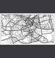 nairobi kenya city map iin black and white color vector image vector image