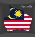 negeri sembilan malaysia map with malaysian vector image vector image