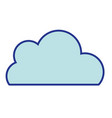 nice cloud natural weather design vector image vector image
