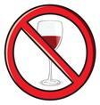 No alkohol vector image vector image