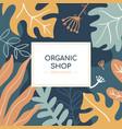 organic shop social media banner template vector image