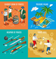 pirates isometric design concept vector image vector image