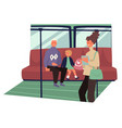 public transport interior passengers of vector image