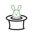 Rabbit in Hat vector image