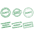 Ready stamps vector image vector image