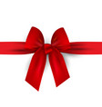 red bow with ribbon isolated on white vector image vector image