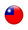 republic china flag on button vector image