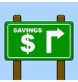 Savings sign vector image vector image