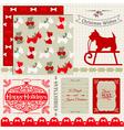 Scrapbook Design Elements - Vintage Christmas Dog vector image vector image