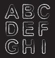 Set Chalk Hand Drawing Alphabet vector image vector image