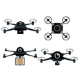 set differents drone isolated vector image