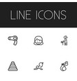 set of 6 editable family icons includes symbols vector image vector image