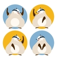 Set of badgers vector image