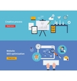 Set of flat design concepts of vector image vector image