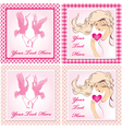 set of valentine cards vector image