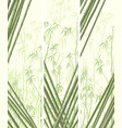 set of vertical banner with many bamboos vector image vector image