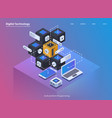 software development and programming coding vector image vector image