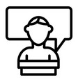 student and dialogue line icon speech bubble and vector image vector image