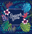 summer time hand written lettering text vector image vector image