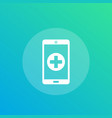 telemedicine icon vector image