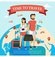 Time to travel flat vector image