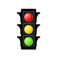 traffic light icon on white stock vector image vector image