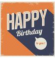 vintage retro happy birthday card vector image