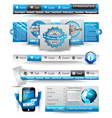Web Templates collection vector image vector image