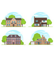 set of frontview of english style suburban vector image