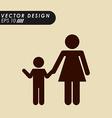 family silhouette design vector image
