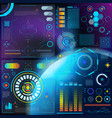 interface hud dashboard futuristic vector image