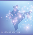abstract map india country global network vector image