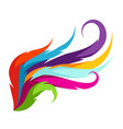 abstract wing with colorful feathers decorative vector image vector image
