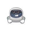 astronaut helmet wearing expensive black glasses