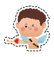 baby cupid cartoon icon vector image vector image