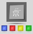 barbecue icon sign on original five colored vector image