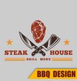 bbq grill steak house image vector image vector image