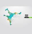 breake dancer teenager dance hip-hop vector image vector image