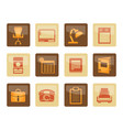 business office and firm icons vector image vector image