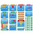 cartoon casual web mobile game menu interface vector image vector image